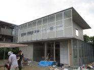 大阪府豊中市の鉄筋コンクリート+木造の建築家設計の住宅現場